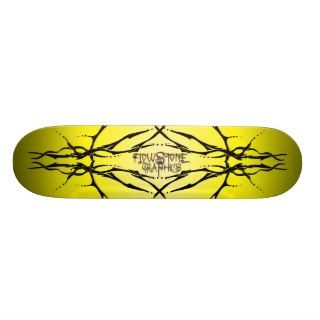 Tribal Deer Skull Tattoo   black Custom Skateboard