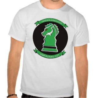 GREEN KNIGHTS VMFA(AW) 121 T SHIRTS