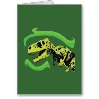Rex Dinosaur Skeleton Greeting Cards