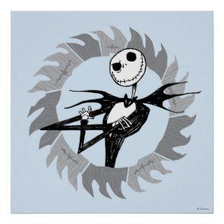 Jack Skellington Saw Blade Poster