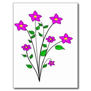 01   Clipart Flowers 1.png Post Cards