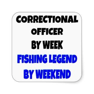 Fishing Legend Correctional Officer Square Sticker