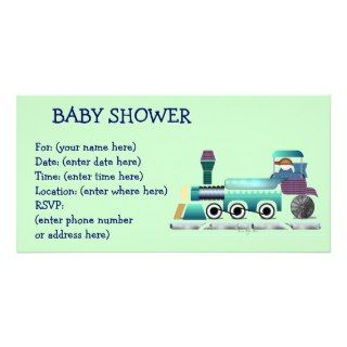 Toot Toot Train Baby Shower Photo Cards