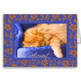 Retirement Congratulations Orange Tabby Card
