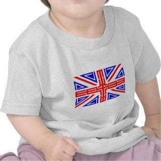 Cool Tribal tattoo British flag T Shirt