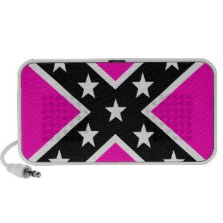 Pink & Black Girlie Rebel Confederate Flag Notebook Speakers