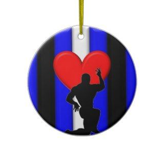 Leather Muscle Worship Pride Christmas Ornaments