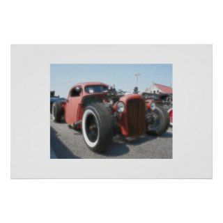 Rat Rod   Airbrush & Ink Print