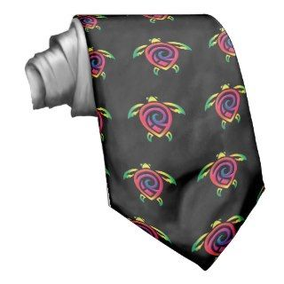 Rainbow Sea Turtle Tattoo Tie