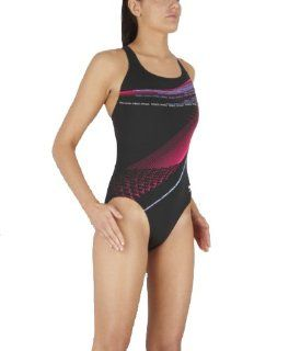 Speedo Damen Badeanzug HERCULEAN PLACEMENT POWERB., Black/Pop Pink