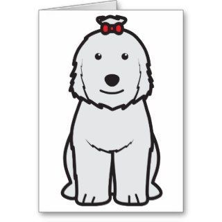 Old English Sheepdog Dog Cartoon Card