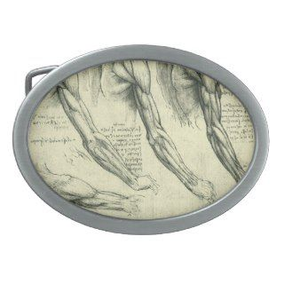 Arm and Shoulder Muscles Anatomy Leonardo da Vinci Belt Buckle