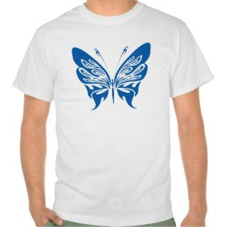 BLUE TATTOO BUTTERFLY GRAPHIC LOGO T SHIRTS