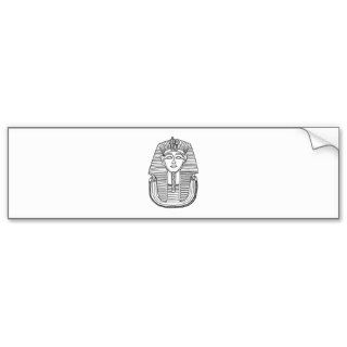 BYKI King Tut Black Line Drawing Bumper Stickers