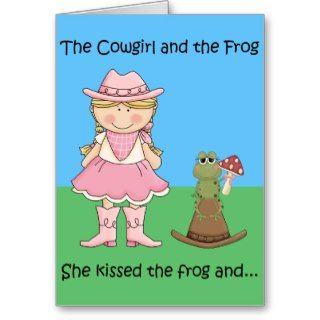 The Cowgirl and the Frog Birthday Card   Blond