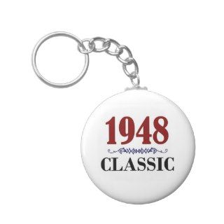 Classic 65th Birthday Gifts Key Chains