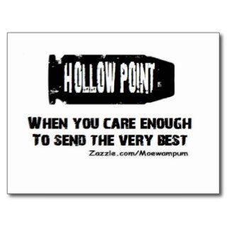 HOLLOW POINT CARRY PRO GUN PISTOL 2ND AMENDMENT POST CARD