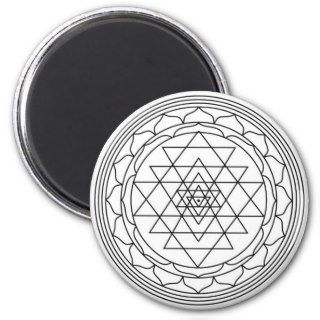 sri yantra fridge magnets