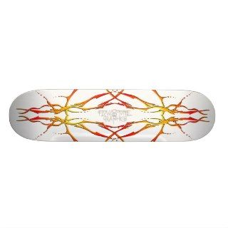 Tribal Deer Skull Tattoo   flame Skateboards
