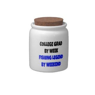 Fishing Legend College Grad Candy Jar