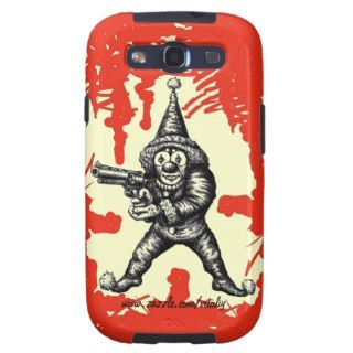 Funny evil clown pen ink drawing art galaxy SIII covers