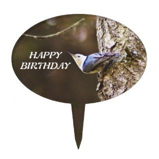 Happy Birthday Bird Cake Topper