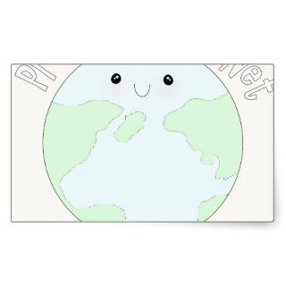 Save earth & protect our planet rectangular sticker