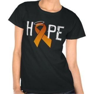 Multiple Sclerosis Hope Orange Ribbon Dark T Shirt