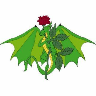 Dragon With Rose Cut Out
