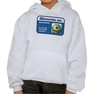 Monsters Inc. Mike Wazowski employee ID card Hoodies