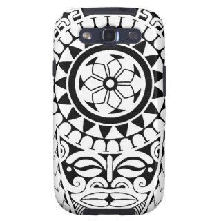 Polynesian sun & mask tattoo design samsung galaxy SIII case