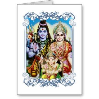 Ganesh, Shiva and Parvati, Lord Ganesha, Durga Cards