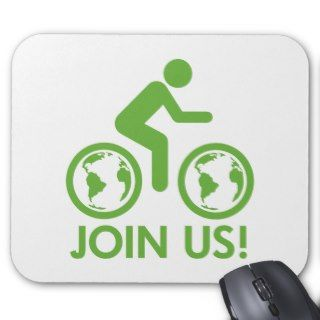 Bicycle Recycle Green Join Mouse Mats