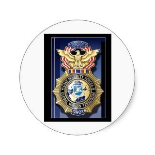 Air Force Security Police GWOT Round Stickers