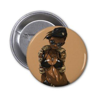 Army Girl Button