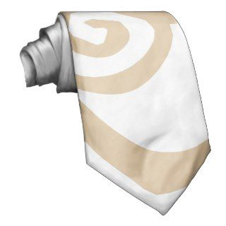 Light brown and white swirl design tie.