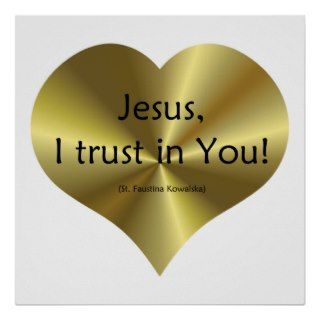 Divine Mercy   Jesus I trust in You  Poster