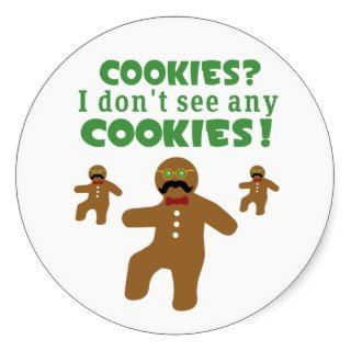 Gingerbread Man Disguise Sticker