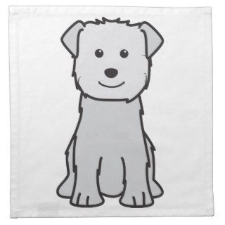 Glen of Imaal Terrier Dog Cartoon Cloth Napkin