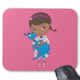 Doc McStuffins Holding Stuffy Mouse Pads