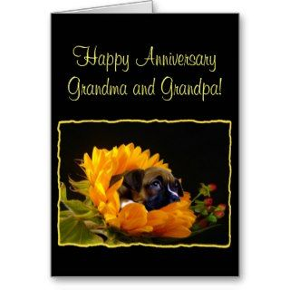 Happy Anniversary Grandma and Grandpa Boxer Card