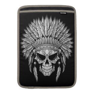 Dark Native Sugar Skull with Headdress Sleeve For MacBook Air