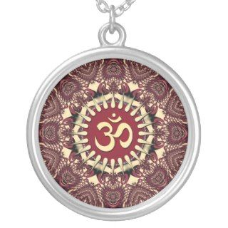 Heart Geometric Mandala Aum Symbol Necklace