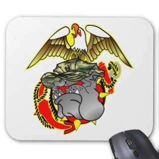 Old Skool Eagle Globe & Bulldog Mouse Pad