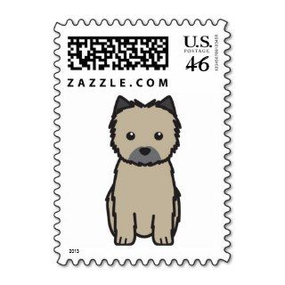 Cairn Terrier Dog Cartoon Postage Stamps