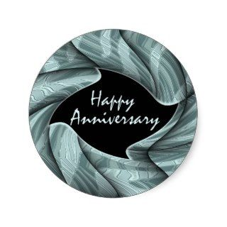 Happy Anniversary Round Stickers