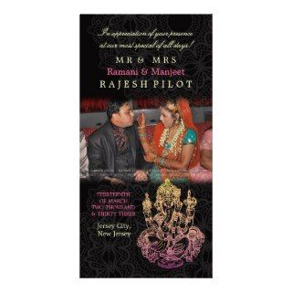 Ganesh Indian Wedding Thank You Photo Cards