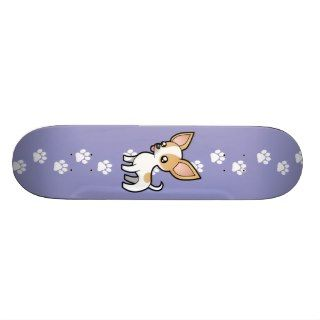 Cartoon Chihuahua (fawn parti smooth coat) Skate Deck