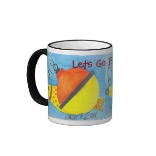 Lets Go Fishing Fun Fishing Bobber Mug