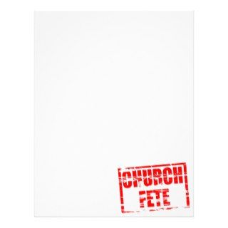 Church fete rubber stamp effect letterhead design